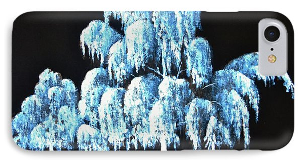 Weeping Willow In Black Light IPhone Case