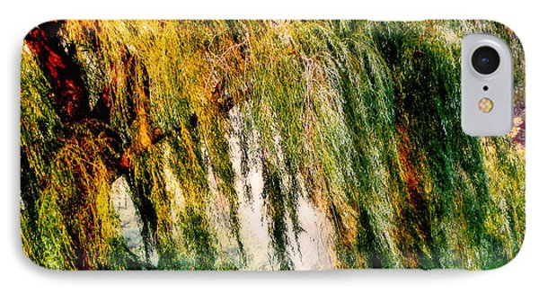 Weeping Willow Tree Painterly Monet Impressionist Dreams IPhone Case