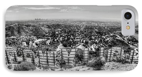 Welcome To Hollywood - Bw IPhone Case