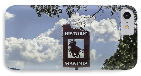 Welcome To Mancos Colorado Sign IPhone Case