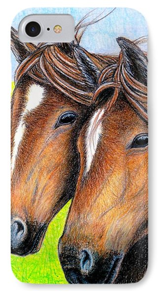 Welsh Mountain Ponies IPhone Case