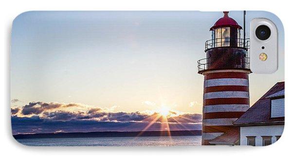 West Quoddy Head Lighthouse Sunrise  IPhone Case