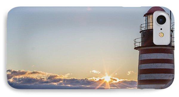 West Quoddy Lighthouse Sunrise IPhone Case