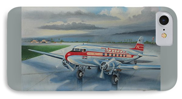 Western Airlines Dc-3 IPhone Case