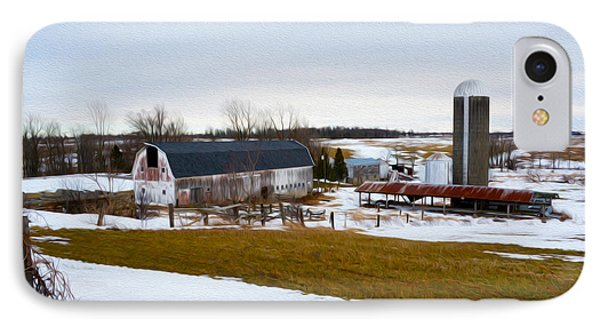 Western New York Farm As An Oil Painting IPhone Case