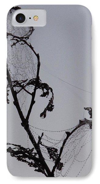 Wetting The Spiderweb. IPhone Case