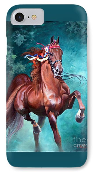 Horse iPhone 8 Case - Wgc Courageous Lord by Jeanne Newton Schoborg