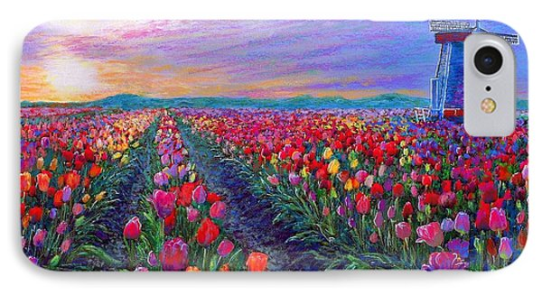Impressionism iPhone 8 Case -  Tulip Fields, What Dreams May Come by Jane Small