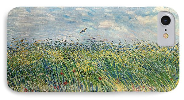 Impressionism iPhone 8 Case - Wheatfield With Lark by Vincent van Gogh