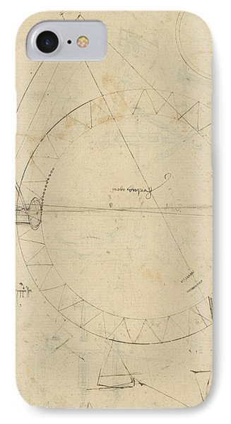Wheel Sketch Of Drawing In Folio 956 IPhone Case