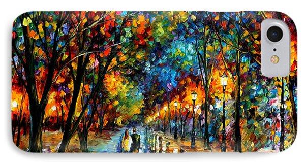 When Dreams Come True - Palette Knlfe Landscape Park Oil Painting On Canvas By Leonid Afremov IPhone Case