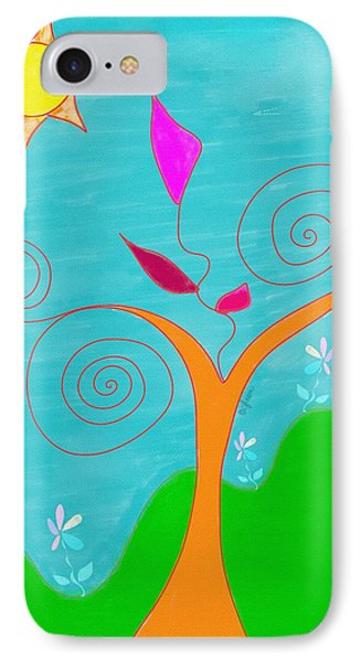 Whimsical Garden - Digital Drawing IPhone Case