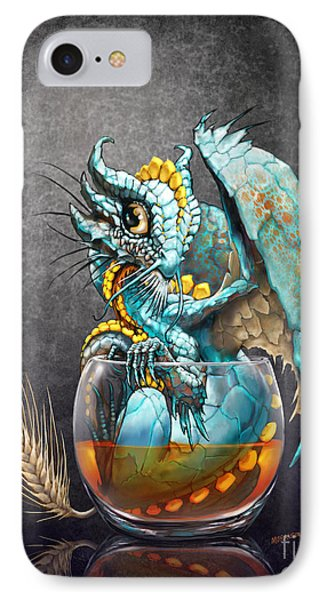 Dragon iPhone 8 Case - Whiskey Dragon by Stanley Morrison