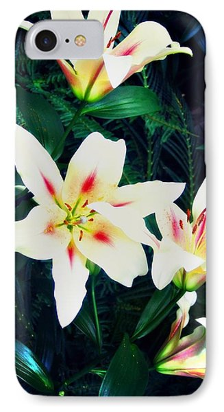 Whit And Pink Flower IPhone Case