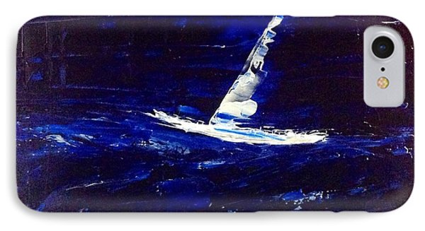 White Boat - Dark Sea And Sky IPhone Case