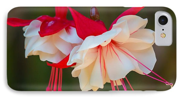 White And Red Fuchsia IPhone Case