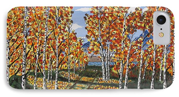 White Birch Reservoir  IPhone Case