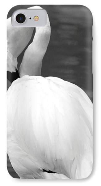 White Flamingo IPhone Case