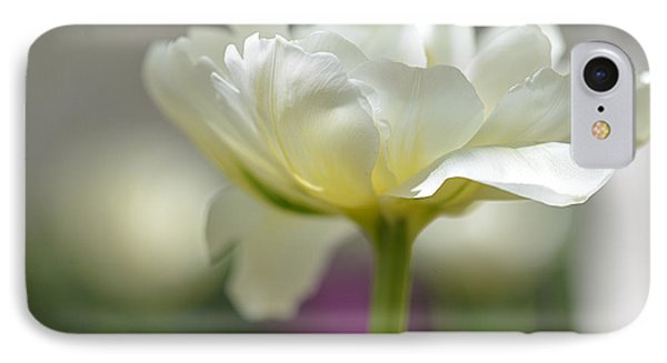 White Green Tulip IPhone Case