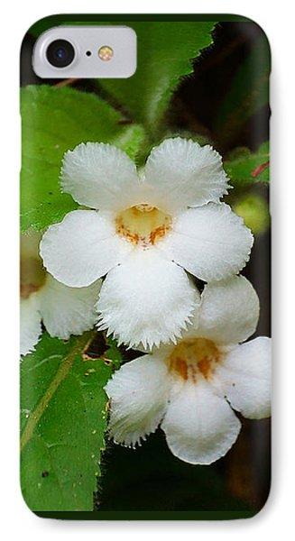 White Jungle Wildflower IPhone Case