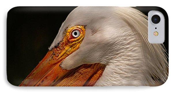 White Pelican Portrait IPhone Case