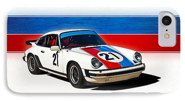 White Porsche 911 IPhone Case