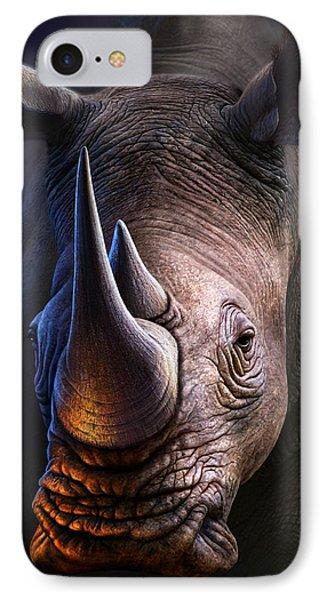 Africa iPhone 8 Case - White Rhino by Jerry LoFaro