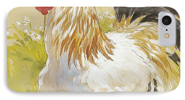 White Rooster IPhone Case