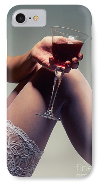 White Stockings With Wineglass IPhone Case