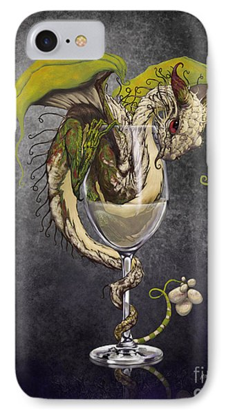 Dragon iPhone 8 Case - White Wine Dragon by Stanley Morrison