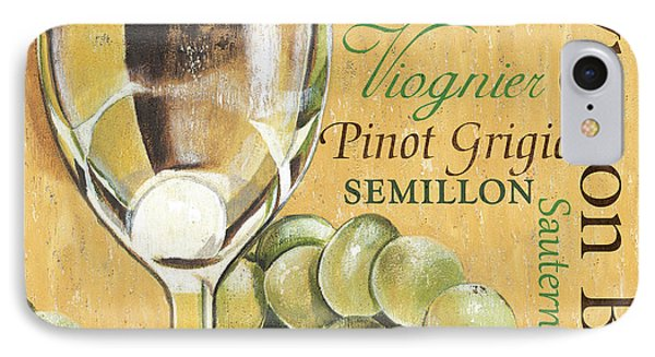 Fruit iPhone 8 Case - White Wine Text by Debbie DeWitt