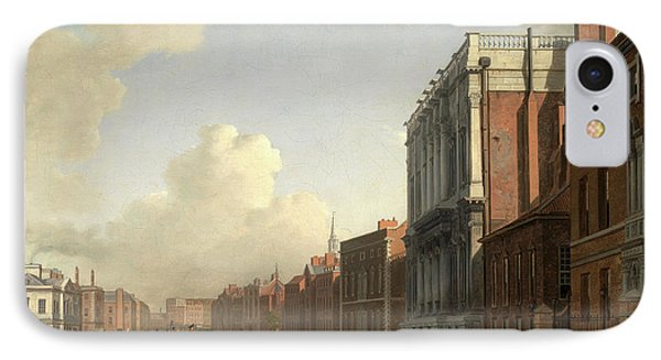 Whitehall, Looking Northeast London Signed IPhone Case