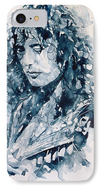 Musicians iPhone 8 Case - Whole Lotta Love Jimmy Page by Paul Lovering