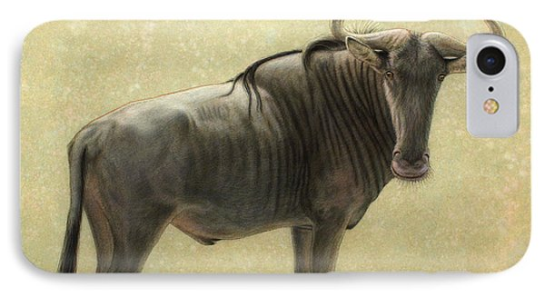 Bull iPhone 8 Case - Wildebeest by James W Johnson