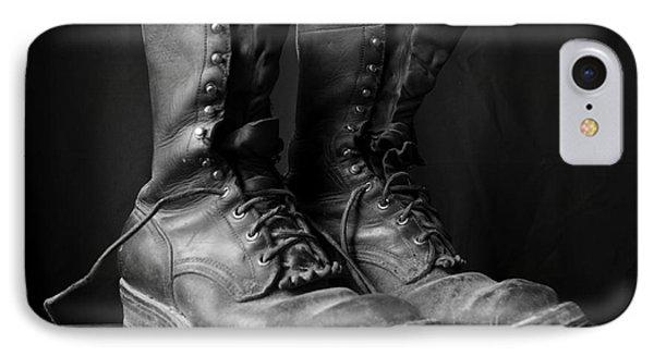 Wildland Fire Boots Still Life IPhone Case
