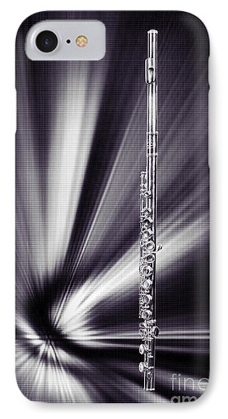 Wind Instrument Music Flute Photograph In Sepia 3301.01 IPhone Case