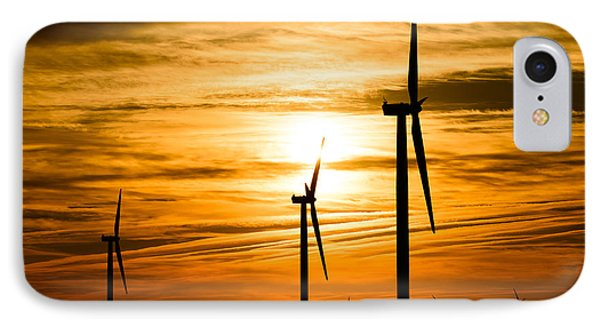 Wind Turbine Farm Picture Indiana Sunrise IPhone Case