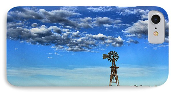 Windmill In Blue IPhone Case