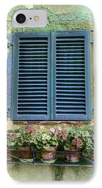 Window In Cortona - Texture Added IPhone Case