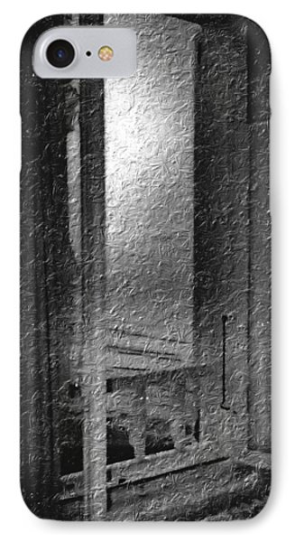 Window Ocean View Black And White Digital Painting IPhone Case
