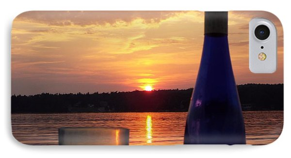 Wine Water Sunset IPhone Case