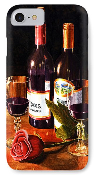 Wine With Rose IPhone Case