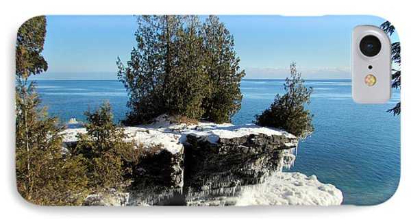 Winter At Cave Point IPhone Case