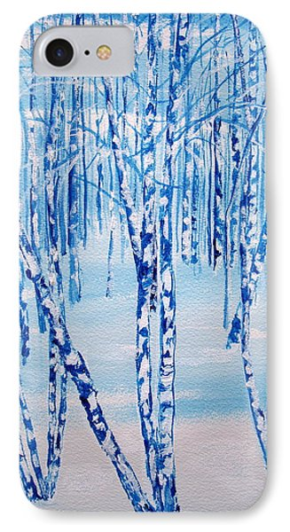 Winter Birch IPhone Case