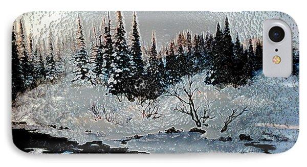Winter Lake Sunset IPhone Case
