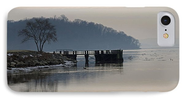 Winter Morning On The Hudson  IPhone Case