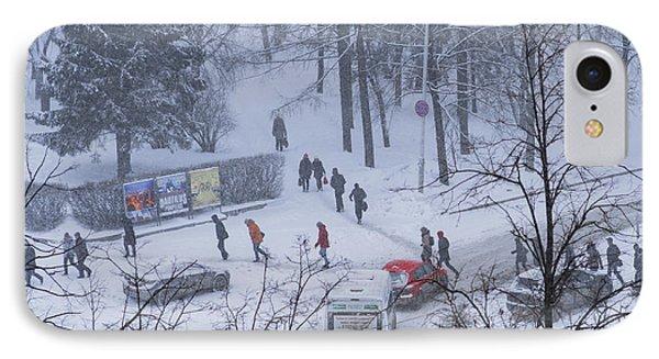 Winter Traffic IPhone Case