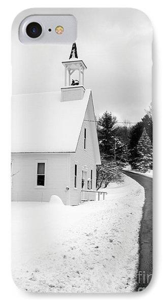 Winter Vermont Church IPhone Case