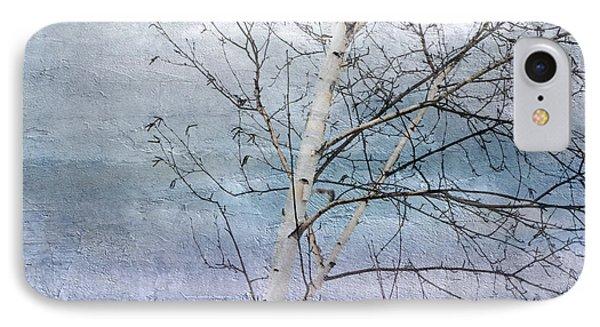 Winter White Birch  IPhone Case