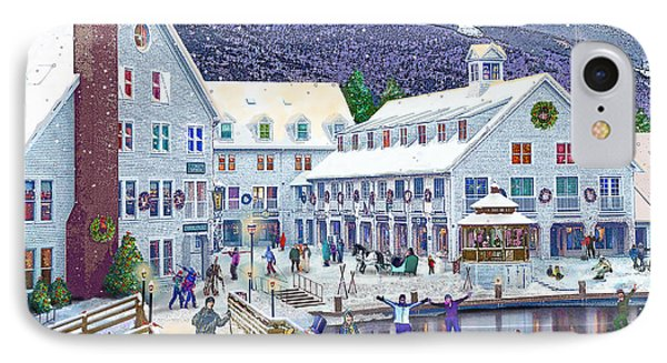 Wintertime At Waterville Valley New Hampshire IPhone Case